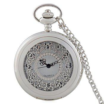 Engraved Vintage Quartz Pocket Watch