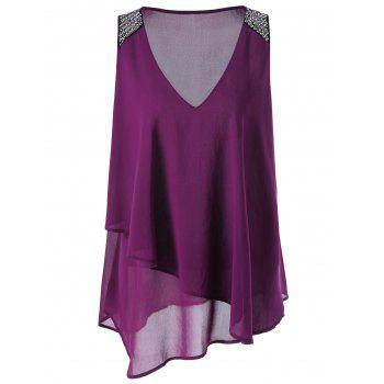 Layered Chiffon Plus Size Top