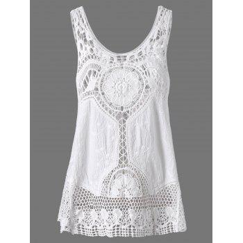Crochet Lace Hollow Out Tank Top