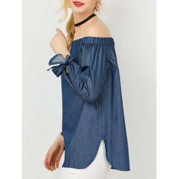 Tie Sleeve Off The Shoulder Blouse