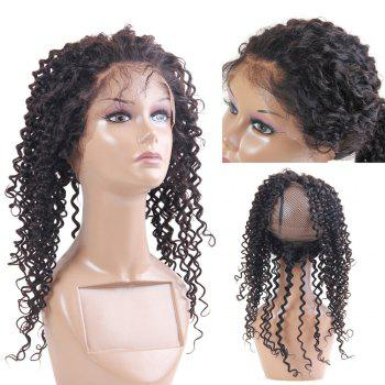 Long Kinky Curly Lace Front Dyeable Human Hair 360 Lace Wig with Baby Hair