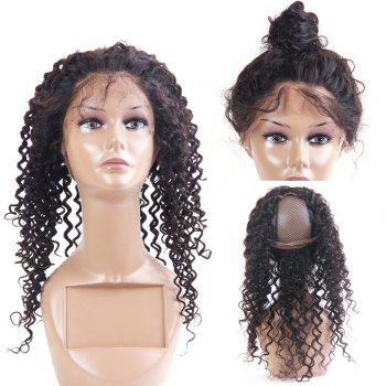 Long Dyeable Kinky Curly Lace Front Human Hair 360 Lace Wig with Baby Hair