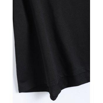 Plus Size Graphic T-Shirt and Sweatshorts - BLACK BLACK