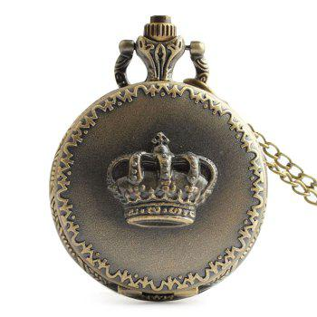 Crown Carving Number Vintage Pocket Watch - COPPER COLOR COPPER COLOR