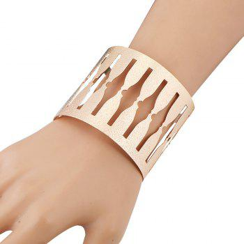 Alloy Hollowed Cuff Bracelet