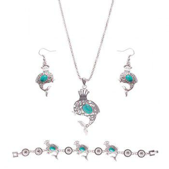 Crown Rammel Dolphin Jewelry Set