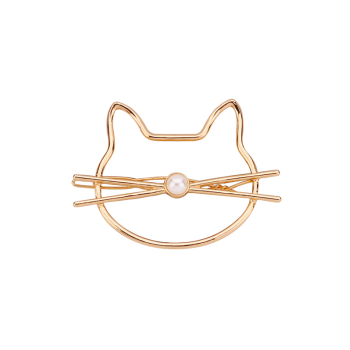 Faux Pearl Kitten Hairgrip