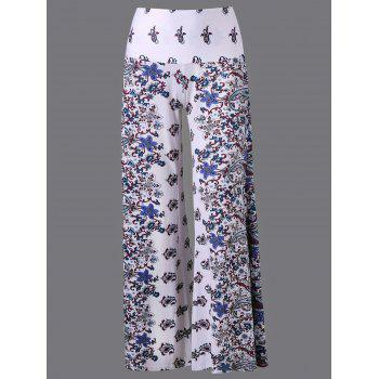 High Waist Print Wide Leg Pants