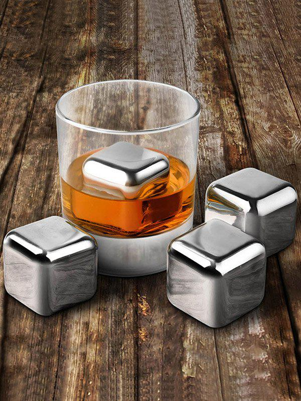 Stainless Steel Ice Cubes Set Whiskey Beer Cooler