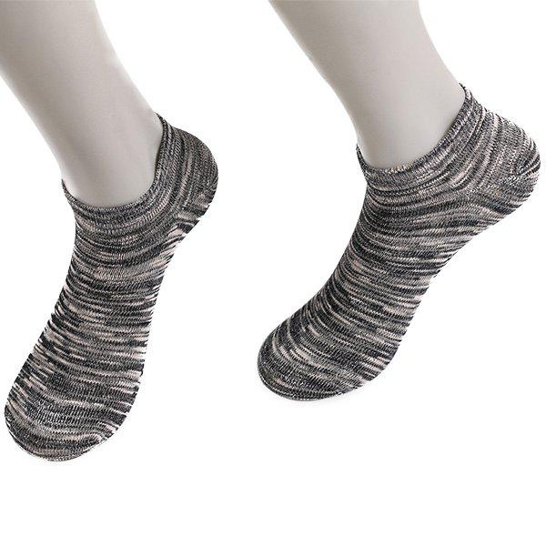 Knitted Elasticated Ankle Socks - BLACK