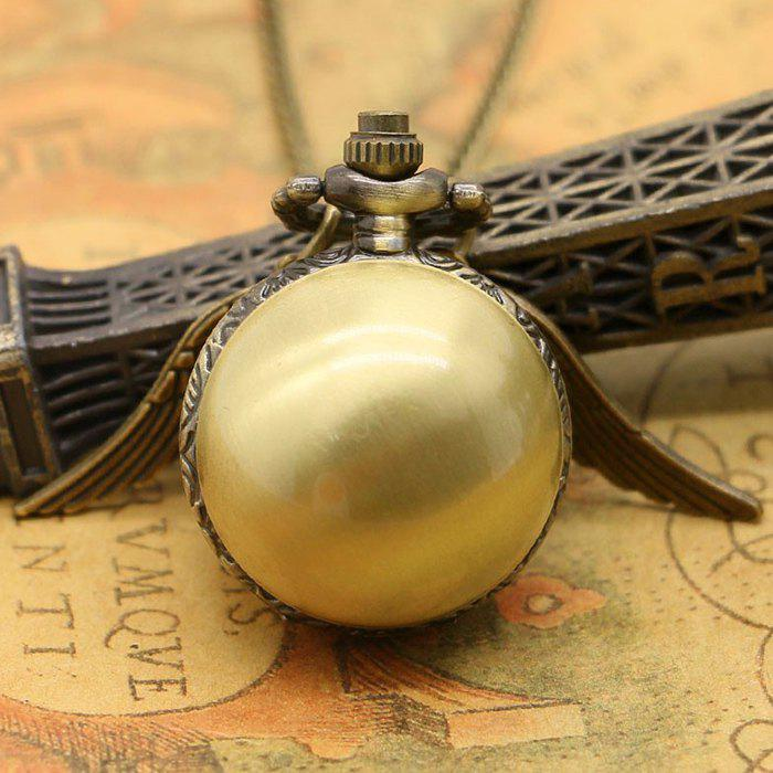 Ball Pocket Watch with Wings - BRONZE COLORED