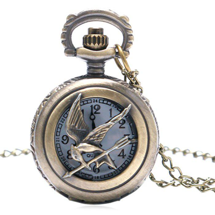 Bird Carving Vintage Pocket Watch - COPPER COLOR