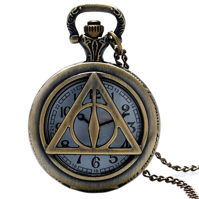 Hollowed Triangle Vintage Pocket Watch - COPPER COLOR