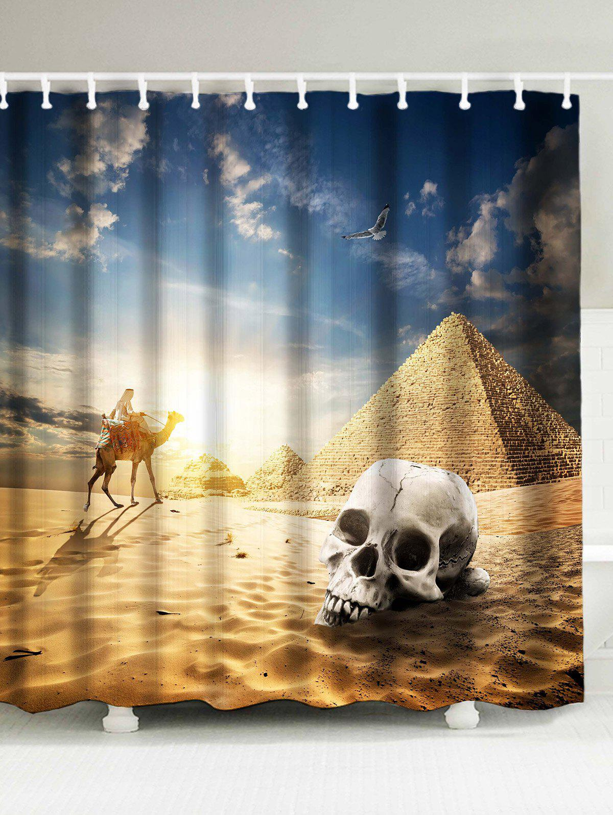 Egypt Pyramid Scenic Print Shower Curtain футболка billy the kid