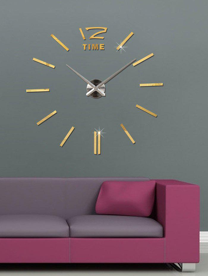 DIY Mirror Wall Sticker Clock For Living Room Decor aomei 0173 chest mark pattern pvc room decor wall sticker black