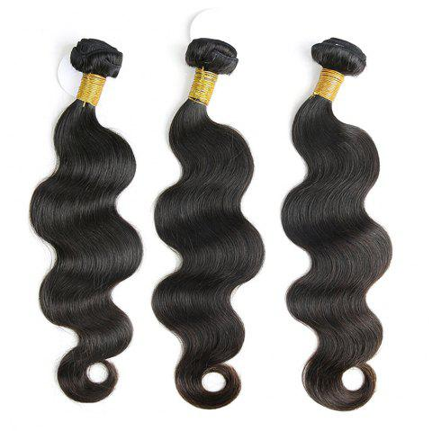 3 Pcs Body Wave Brazilian Virgin Dyeable Human Hair Weave - NATURAL COLOR 16INCH*18INCH*20INCH