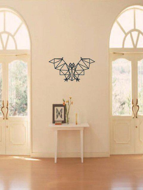 Geometric Bat Print Waterproof Wall Sticker Black 31 57 5cm