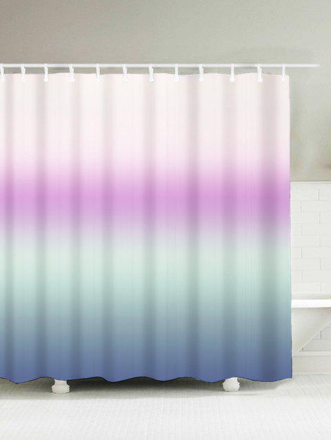 Gradient Fabric Bath Decor Waterproof Shower Curtain - SUEDE ROSE 180*200CM