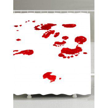 Gothic Bloodstain Fabric Bathroom Shower Curtain