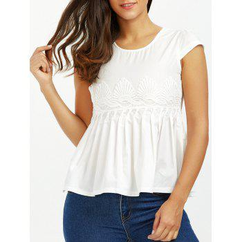 Pleated Lace Crochet Blouse