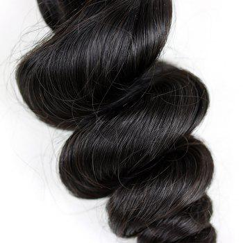 3 Pcs Dyeable Loose Wave Brazilian Virgin Human Hair Weave - NATURAL COLOR 20INCH*22INCH*24INCH