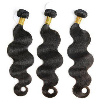 3 Pcs Body Wave Brazilian Virgin Dyeable Human Hair Weave