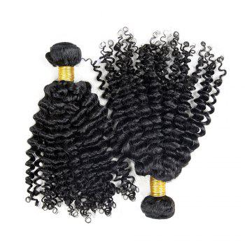 3 Pcs Virgin Dyeable Deep Wave Human Hair Weave - NATURAL COLOR 12INCH*14INCH*16INCH