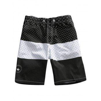 Two Tone Polka Dots Board Shorts