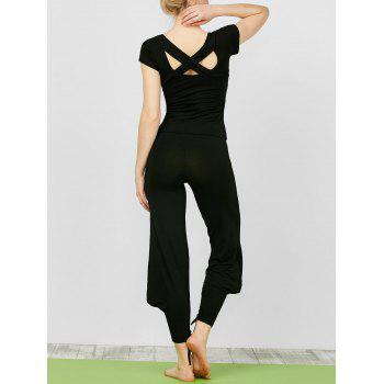 Criss Cross T-Shirt With Yoga Knickers Pants