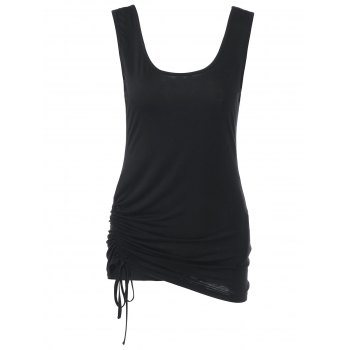 Shirred Tie Side Tank Top