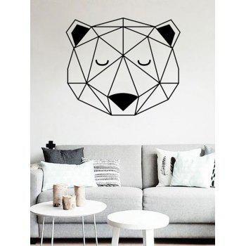 Waterproof Geometric Bear Print Wall Sticker