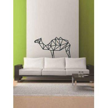 Paper Camel Geometric Print Wall Art Sticker