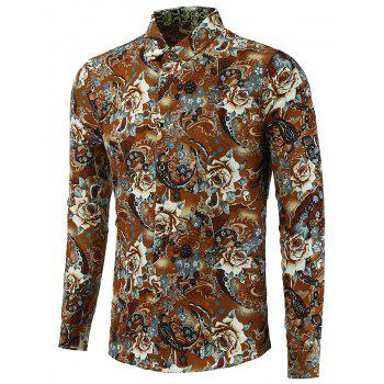 Plus Size Shirt with Flower Print