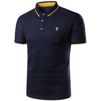 Half Button Logo Golf Shirt