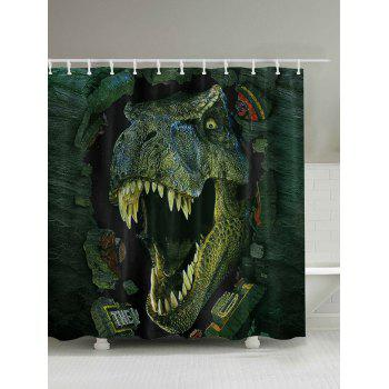 3D Dinosaur Print Shower Curtain