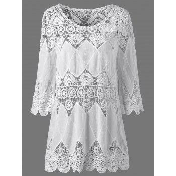 Crochet Scalloped Edge Tunic Cover-Ups