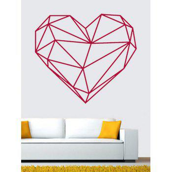 Waterproof Geometric Heart Shape Wall Sticker