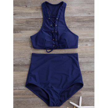 Racerback Lace Up Bikini
