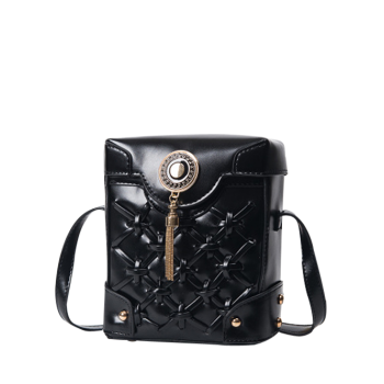 Criss Cross Metal Tassel Crossbody Bag