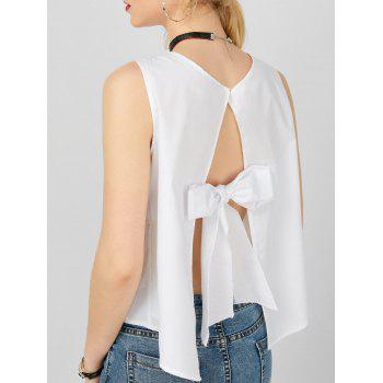 Self Tie Split V Neck Tank Top