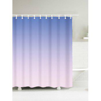 Color Gradient Mouldproof Fabric Shower Curtain
