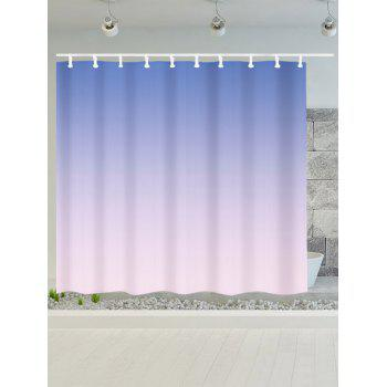 Color Gradient Mouldproof Fabric Shower Curtain - BLUE/PINK W71 INCH * L79 INCH