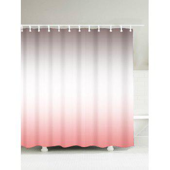 Brief Polyester Water Resistant Ombre Shower Curtain