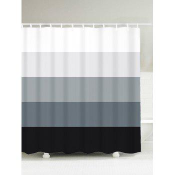 Gradient Striped Water Resistant Bath Decor Shower Curtain