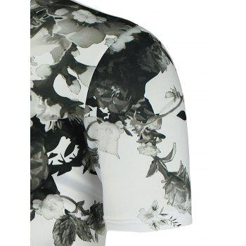 Stretch Chinese Painted T-Shirt - WHITE ONE SIZE