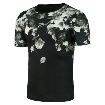 Stretch Chinese Painted T-Shirt