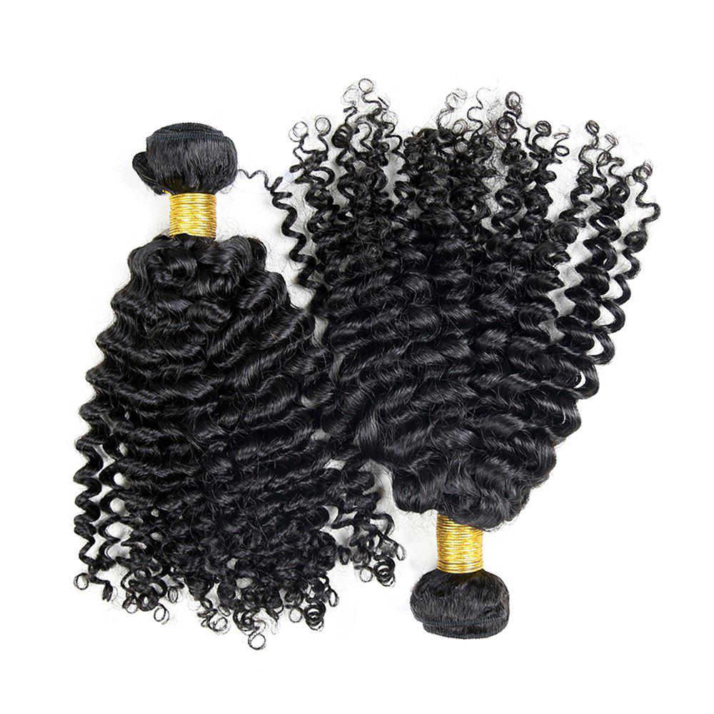 3 Pcs Virgin Dyeable Deep Wave Human Hair Weave - NATURAL COLOR 20INCH*22INCH*24INCH
