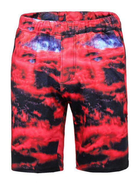 bd9ad2d779 41% OFF] 2019 Tie Dye Camouflage Print Board Shorts In COLORMIX ...