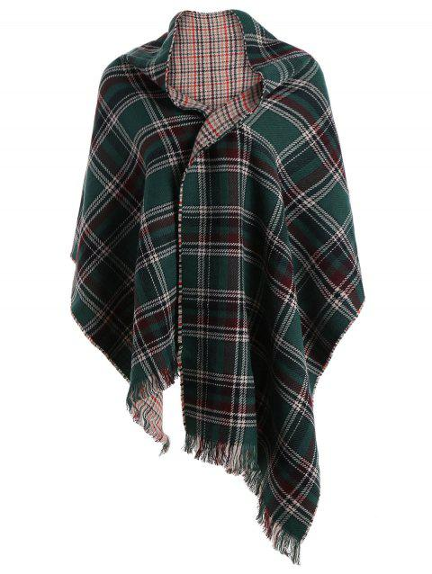 Chic Fringed Plaid Scarf For Women - COLORMIX