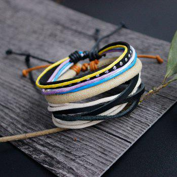 Layered Faux Suede Friendship Bracelets